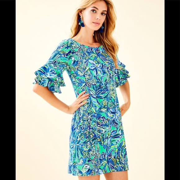 Lilly Pulitzer Dresses & Skirts - Lilly Pulitzer Lula Dress with Flounced Sleeves